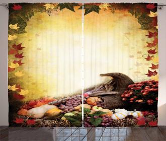 Fall Theme Arrangement Curtain