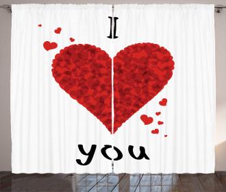 Love Bouquet Heart Curtain