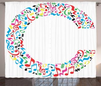 Music Inspired Capital Curtain
