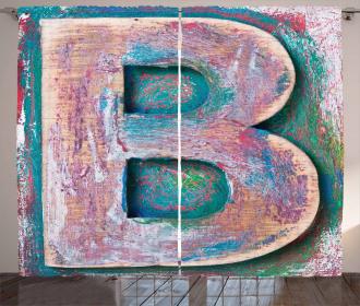 ABC Print Method Old B Curtain