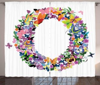 Initial Festive Spring Curtain