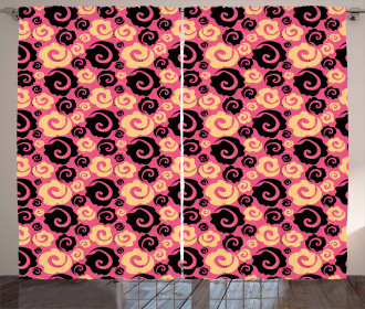 Vintage Roses Fashion Curtain