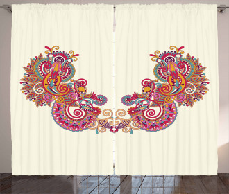 Eastern Inspired Design Curtain