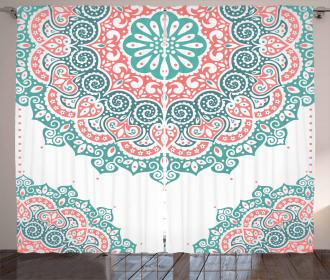 Soft Toned Mandala Asian Curtain