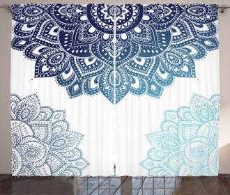 Vibrant Colored Mandala Curtain
