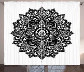 Vintage Ethnic Ornament Curtain