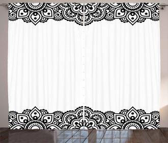 Folkloric Mehendi Curls Curtain