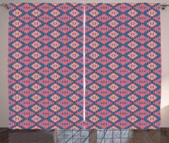 Ethnic Retro Abstract Curtain