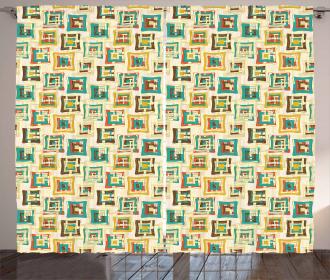 Surreal Puzzle Shape Curtain