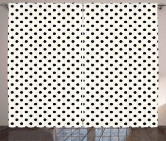 Large Polka Dots Curtain