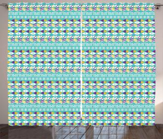Mix Triangles Ovals Curtain