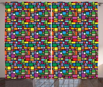 Minimal Squares Lines Curtain