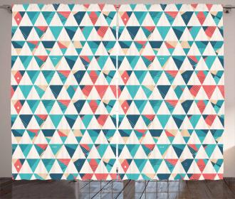 Triangle Hexagons Curtain