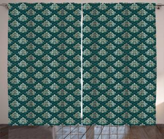 French Rococo Motifs Curtain