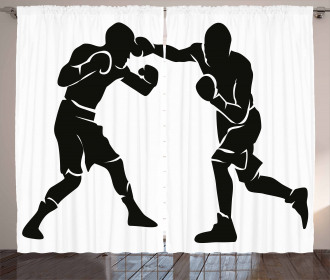 Professional Boxer Punch Curtain