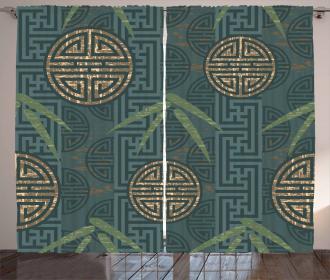 Authentic Asian Motifs Curtain