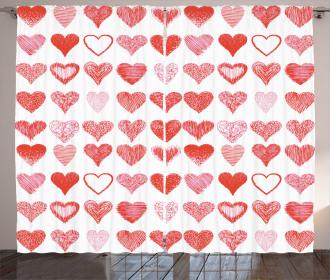 Romantic Hearts Curtain