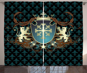 Middle Ages Coat of Arms Curtain