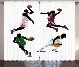 Basketball Players Sport Curtain