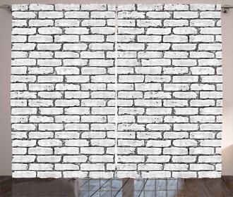 Retro Brick Wall Curtain