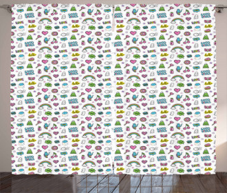 Vibrant Fun Pattern Curtain