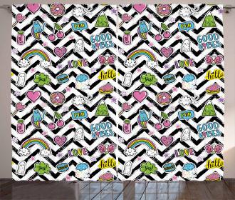 Zigzag Colorful Cute Curtain