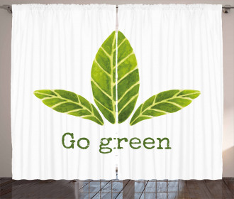 Eco Concept Green Leaves Curtain