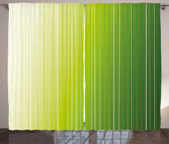 Ombre Color Stripe Digital Curtain