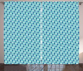 Aquatic Colors Arrow Shape Curtain