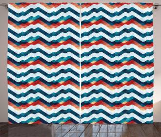 Grunge Vibrant Stripes Curtain