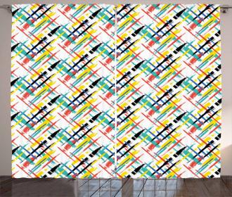 Colorful Plaid Artistic Curtain