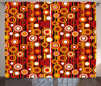 Striped Backdrop Circles Curtain