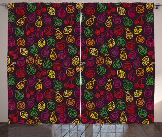 Apples Cherries Pears Curtain