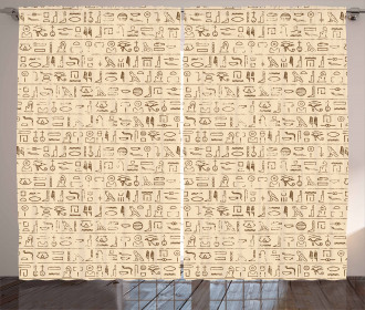 Dated Hieroglyphics Curtain