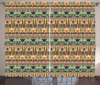 Ethnic Lily Scarab Curtain