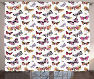 Doodle Spring Nature Curtain