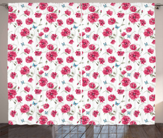 Poppy Flora Blossoms Curtain