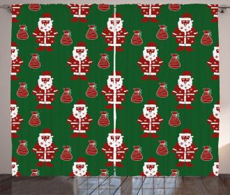 Santa Claus Present Curtain