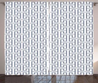 Grid Maze Pattern Curtain