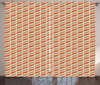 Abstract Lines Stripe Curtain
