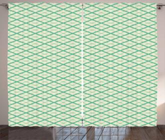 Vintage Grid Style Curtain