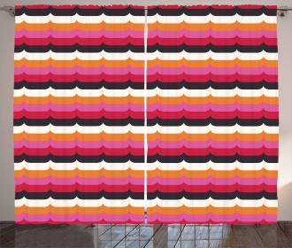 Vivid Curves Modern Curtain