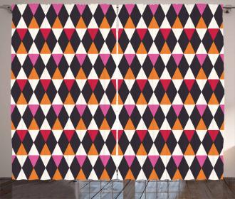 Rhombus Vintage Shape Curtain