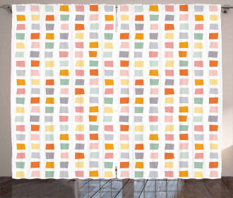Hipster Soft Squares Curtain