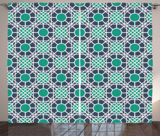Oriental Motif Mandala Curtain