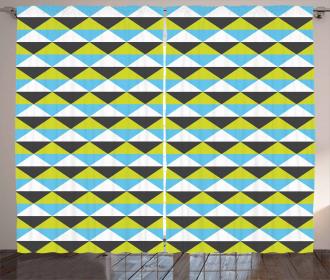 Modern Vivid Pattern Curtain