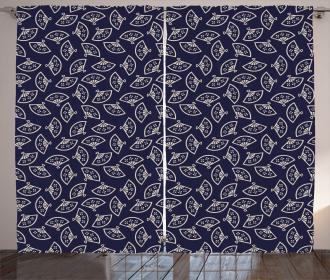 Asian Fan Pattern Curtain