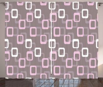 Oval Corner Squares Curtain