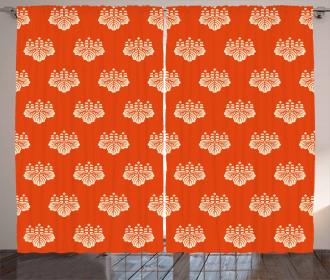 Eastern Foliage Motif Curtain
