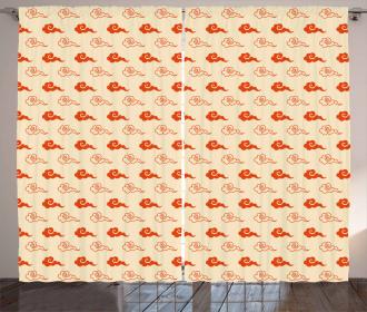 Japanese Cloud Design Curtain